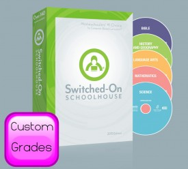 2016 Switched-On Schoolhouse 5 Subject Set (Custom) - Product Image