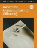 Christian Liberty Press Applications of Grammar Book 1 Answer Key