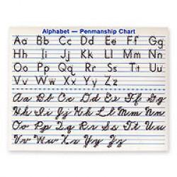 Alphabet Penmanship Chart - Product Image