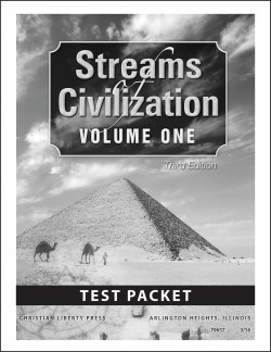Christian Liberty Press Streams of Civilization, Vol. 1 Tests - Product Image