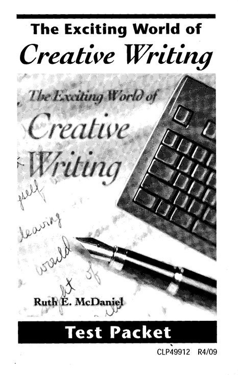 Christian creative writing curriculum