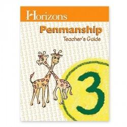 Horizons 3rd Grade Penmanship Teacher's Guide - Product Image