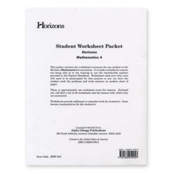 Horizons 4th Grade Math Worksheet Packet - Product Image