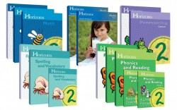 Horizons 2nd Grade Complete Set (Set Includes: Math, Penmanship, Health, Spelling & Vocabulary, Phonics & Reading) - Product Image