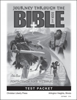 Journey Through the Bible: Book 1- Pentateuch and Historical Books - Test Packet - Product Image