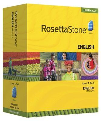 Rosetta Stone English (American) Level 1, 2 & 3 Set - Product Image