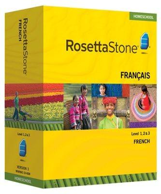 Rosetta Stone French Level 1, 2 & 3 Set - Product Image
