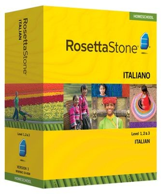 Rosetta Stone Italian Level 1, 2 & 3 Set - Product Image