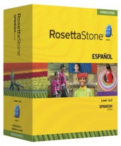 Rosetta Stone Spanish (Spain) Level 1 & 2 Set - Product Image