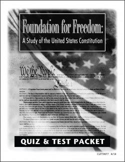 Christian Liberty Press Foundation for Freedom Quiz & Test Packet - Product Image