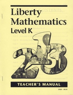 Christian Liberty Press Liberty Math Level K Teacher's Manual - Product Image