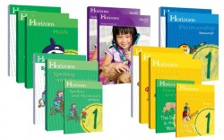 Horizons 1st Grade Complete Set (Set Includes: Math, Phonics & Reading, Health, Penmanship, Spelling) - Product Image