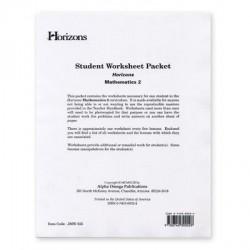 Horizons 2nd Grade Math Worksheet Packet - Product Image