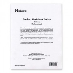 Horizons 3rd Grade Math Worksheet Packet - Product Image
