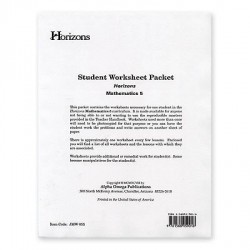 Horizons 5th Grade Math Worksheet Packet - Product Image