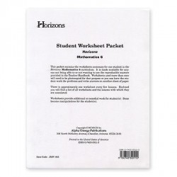 Horizons 6th Grade Math Worksheet Packet - Product Image