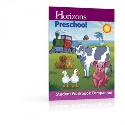 Horizons Preschool for Three's Student Workbook Companion - Product Image